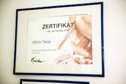 Zertifikat Tanja Ullrich, Tanja`s Nail Cosmetic in Landau an der Isar