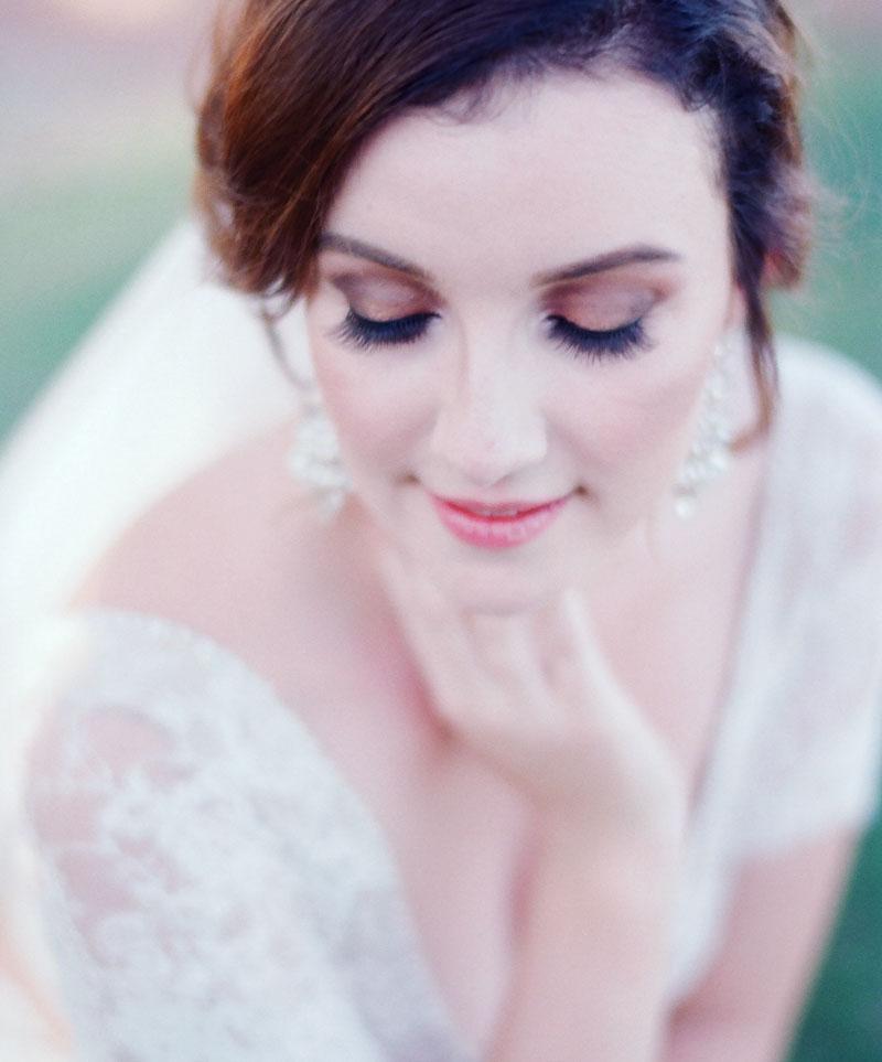 Wunderschön geschminkte Braut von Tanja Ullrich Inhaberin von Tanja`s Nail Cosmetic in Landau an der Isar